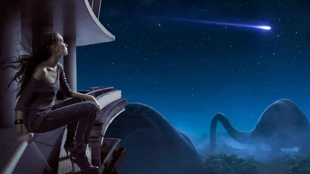 星を見る少女